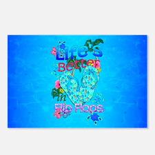 Life Is Better In Flip Flops Postcards (Package of