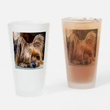 Yorkshire Terrier Dog Small Cute Pe Drinking Glass