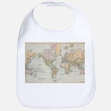 Vintage Map of The World (1892) Bib