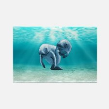 Two Manatees Swimming Magnets