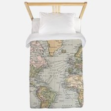 Vintage Map of The World (1892) Twin Duvet