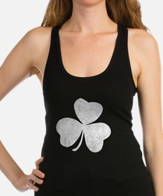 Distressed Shamrock Racerback Tank Top