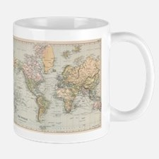 Vintage Map of The World (1892) Mugs