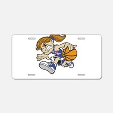 BASKET GIRL Aluminum License Plate