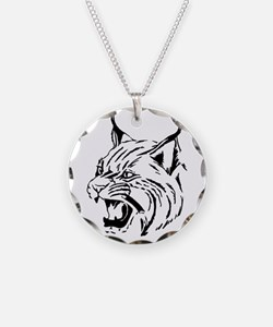 Tiger Wildcat Cat Head Face Necklace