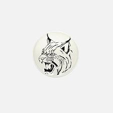 Tiger Wildcat Cat Head Face Mini Button (10 pack)