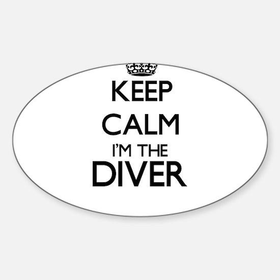 Cute Calm dive Sticker (Oval)