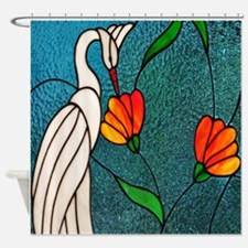Nature Shower Curtains stained glass nature shower curtains | stained glass nature fabric