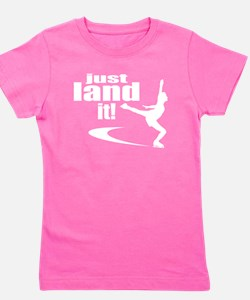 Cute Ice skate Girl's Tee