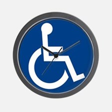 Handicap Sign Wall Clock