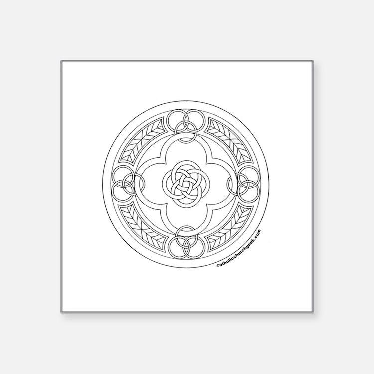 "Cute Celtic lion Square Sticker 3"" x 3"""