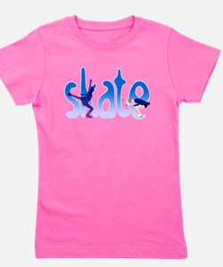 Cute Skating rink Girl's Tee