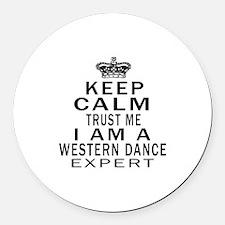 Western Dance Expert Designs Round Car Magnet