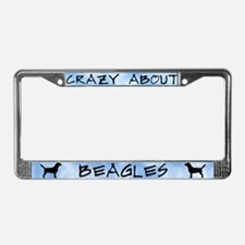 Crazy About Beagles License Plate Frame