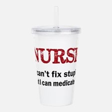 NURSE TOO Acrylic Double-wall Tumbler