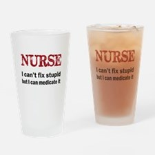 NURSE TOO Drinking Glass