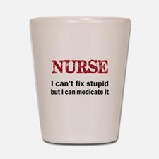 NURSE TOO Shot Glass