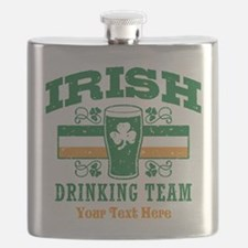 Irish Drinking Team Personalized Flask