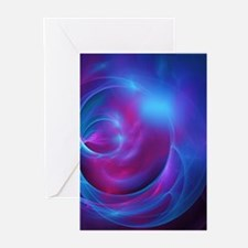 Nebula Galaxy Fractal Abstract Artw Greeting Cards