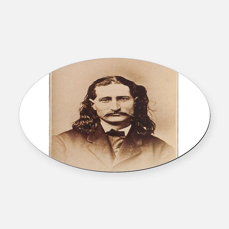 Wild Bill Hickok Oval Car Magnet