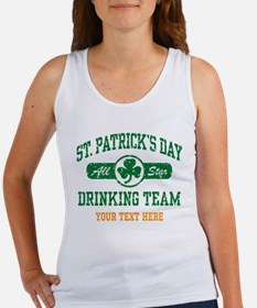 St. Patrick's Day Drinking Team P Women's Tank Top
