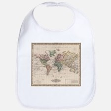 Vintage Map of The World (1833) Bib