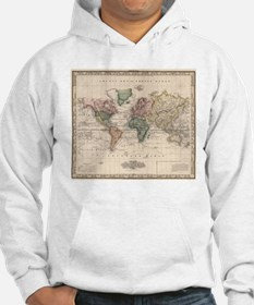 Vintage Map of The World (1833) Hoodie