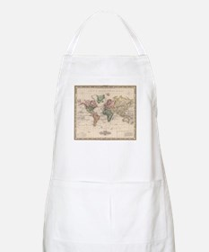 Vintage Map of The World (1833) Apron