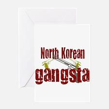 North Korean Gangsta Greeting Card