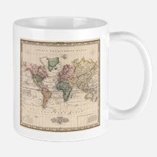 Vintage Map of The World (1833) Mugs