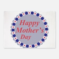 Happy Mothers`s day 5'x7'Area Rug