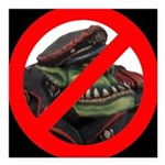 No Orcs Square Car Magnet 3