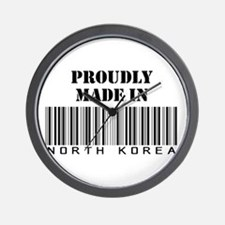 Proudly Made In North Korea Wall Clock