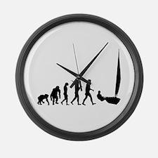 Sailing Evolution Large Wall Clock
