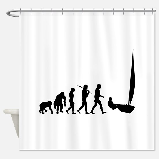 Sailing Evolution Shower Curtain