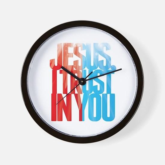 Jesus I Trust in You Wall Clock
