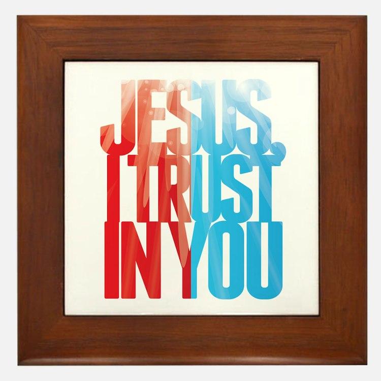 Jesus I Trust in You Framed Tile