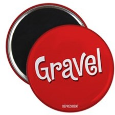 Retro Gravel Magnet