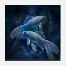 Blue Fish Tile Coaster