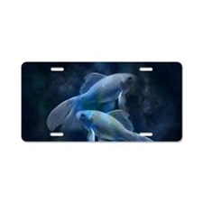 Blue Fish Aluminum License Plate