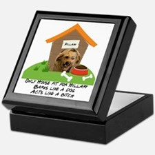 Cute Let dog in let dog out Keepsake Box