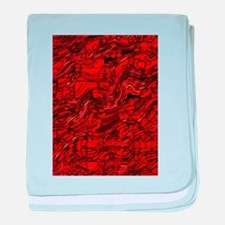 Abstract Glass Bent Bright Contrasts baby blanket