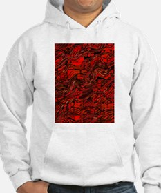 Abstract Glass Bent Bright Contr Hoodie