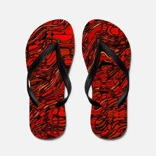 Abstract Glass Bent Bright Contrasts Ar Flip Flops
