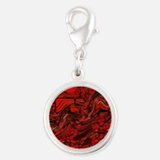 Abstract Glass Bent Bright Contrasts Artwor Charms