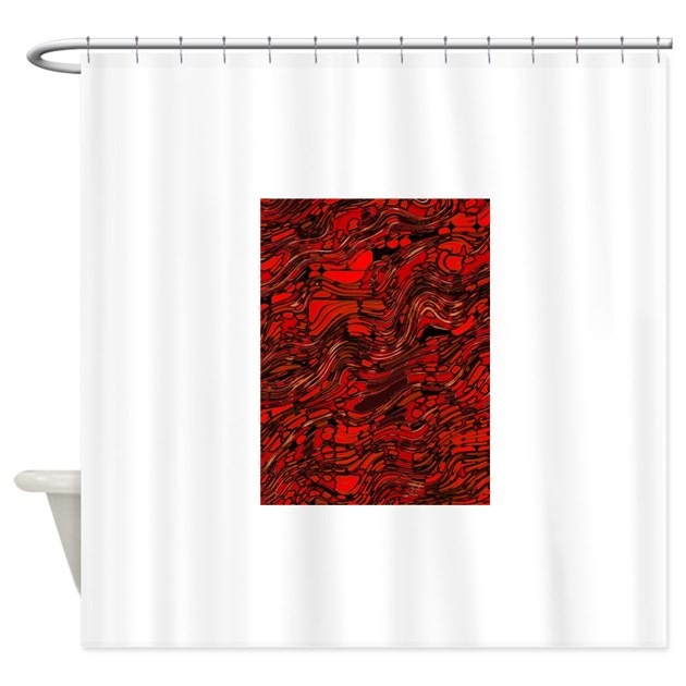 abstract glass bent bright contrast shower curtain by