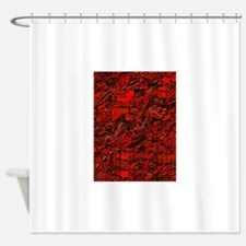 Abstract Glass Bent Bright Contrast Shower Curtain