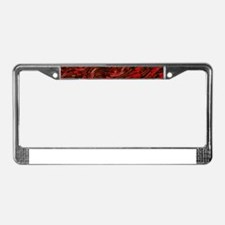 Abstract Glass Bent Bright Con License Plate Frame