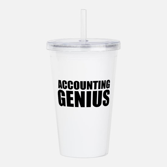 Accounting Genius Acrylic Double-wall Tumbler