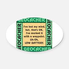 GEOCACHER Oval Car Magnet
